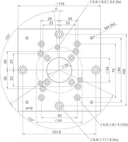 M-061.HP, dimensions in mm