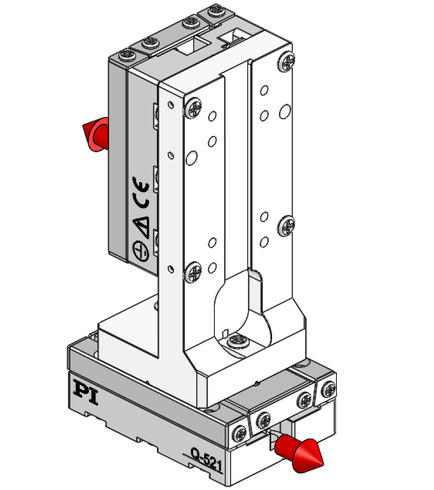 180° orientation of adapter bracket and upper axis to the lower axis